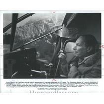 1982 Press Photo ERNIE GIBSON BUSH PILOT WASHINGTON'S CASCADE - RSC74767