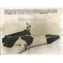 1959 Press Photo Broomstick hat rockets satellites skie - RRV39997