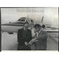 1976 Press Photo Airways Facility Plane Instrument Ack - RRV43499