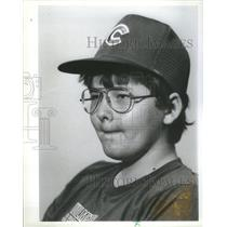 1983 Press Photo 12 Year old Sportcaster Bill Essig. He's the new Sportscaster