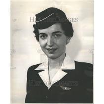 1955 Press Photo Carol Marie Hawkins Midway Airport