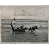 1958 Press Photo Cuxhaven Germany Fishing - RRX62715