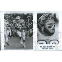 1980 Press Photo Mike Barber Te Houston Oilers - RSC28835