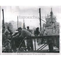 1963 Press Photo Detroit Fishing