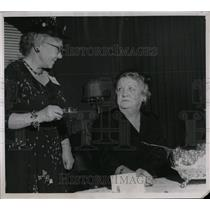 1955 Press Photo Denver Orphans Home party tea table - RRW78147