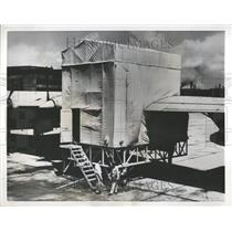 1954 Press Photo Model Aircraft Maintenance Shelter - RRV43609
