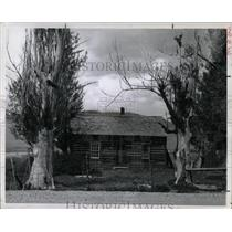 1959 Press Photo Original Cabin Built In Ogden Hole, UT - RRX68491