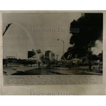 1964 Press Photo Las Vegas Nevada Oil Tanker Blast