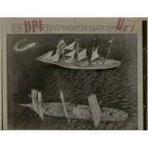 1976 Press Photo Foreign Ships Depart - RRU88445