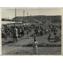 1935 Press Photo Indians Ellensburg Washington Rodeo - RRX80095