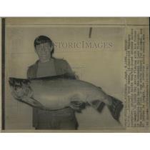 1972 Press Photo Chinook Salmon Fish Lake Michigan