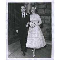"1956 Press Photo George Eckert ""Damn Yankees"" Bonnie Jean Douglas Wedding"