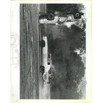 1983 Press Photo Santa Fe Speedway Auto Stunts - RRX96487