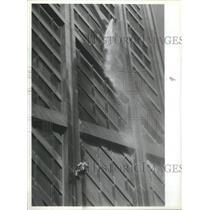 1981 Press Photo SpiderDan Dan Goodwin on the side of the John Hancock building