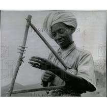 1942 Press Photo Ethiopian Soldier Horn Of Africa