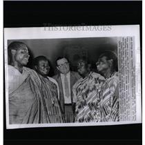 1959 Press Photo Four Trade Union Leader Ghana Country