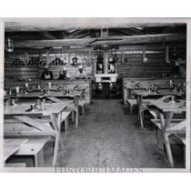 1960 Press Photo Rapid River Logging Camp Park Rapids