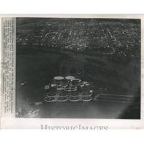 1965 Press Photo Aerial View City Sewage Disposal Plant - RRX85255