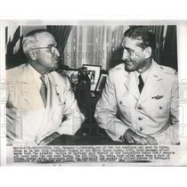 1952 Press Photo Col Frank S. Gabreski & Pres. Harry Tr