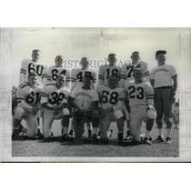 1960 Press Photo Football Squad Fall Illinois College - RRX43129