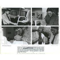 Press Photo Wolfgang Muller-Deisig works Steelcase research development Michigan