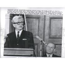 1966 Press Photo Washington President Johnson GOP Leader Everett Dirksen Nam