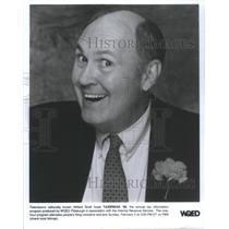 Press Photo Television Willard Scott hosts Taxbreak annual tax WQED Pittsburgh