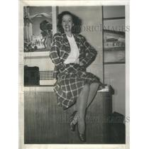 1941 Press Photo Jessie Mathews English Stage Screen Actress La Guardia Airport
