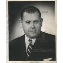 1954 Press Photo John C. Meiszner Illinois County Commissioner Candidate