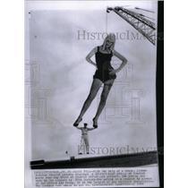 1959 Press Photo Airman Erastus Preston May Britt Pinup - RRX36369