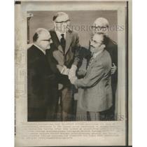 1974 Press Photo George Mavros James Callaghan Cyprus Peace Conference Geneva
