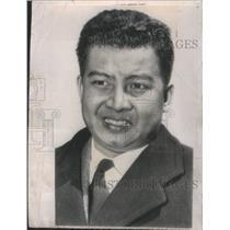1953 Press Photo King Norodom Sihanouk Cambodia Royalty