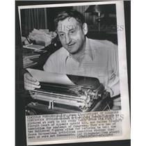 1949 Press Photo Screen Writer John Howard Lawson U S Circuit Court - RSC71417