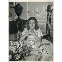 1962 Press Photo Young Patty Duke At Dinningroom Table - XXB01721