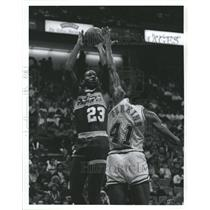 1985 Press Photo Indiana Pacers forward Wayman Tisdale  - RSH31321