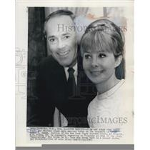 1965 Press Photo Actor Henry Fonda And Shirlee Adams Married In Mineola New York