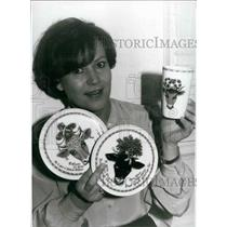 Press Photo Cow and Ox tableware found in Munich, West Germany - KSB17831