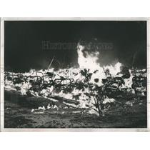 1954 Press Photo Early morning fire at Littlefield Nursing home , killed many.