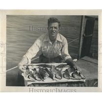 Press Photo Kenneth Wheeler caught 12 bass in Lake Butter. - RSH81445