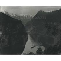 1968 Press Photo Geiranger Fjord The Most Spectacular Fjord In Norway