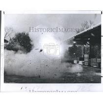 "1982 Press Photo Benny Koske, The Human Bomb, ""Blows Himself Up"""