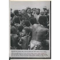 1964 Press Photo U.S. Congo Premier Moise Tshombe During Visit