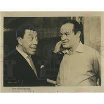 "1963 Press Photo Bob Hope & Tranandel in ""Paris Holiday"" - RSH84675"