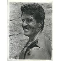 "1971 Press Photo Hugh O'Brian in""Africa-Texas Style"""
