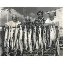 1962 Press Photo Frank Voelke, Tom Parker, Capt. Neil Sweet and Joe Kemper