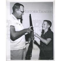 Press Photo Bob Olmstead David Simmons Firearms Collectors Association