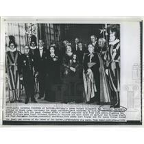 1959 Press Photo Queen Elizabeth, Princess Margaret, at the Vatican