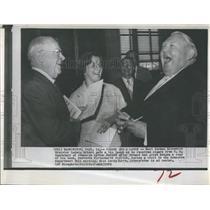 1962 Press Photo West Germany Economics Minister Ludwig Erhard