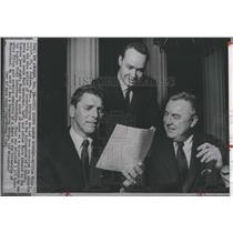 1963 Press Photo William Higgs,Burt Lancaster & Harry Ashmore