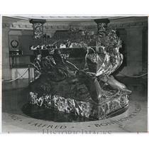 Press Photo US Navy John Paul Jones Marble Bronze Sarcophagus Annapolis Maryland